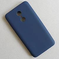 Матовый синий чехол для Xiaomi Redmi Note 4x