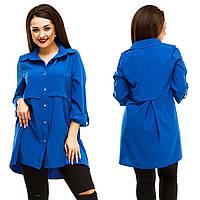Рубашка-туника женская большие размеры (цвета) АНД5045, фото 1