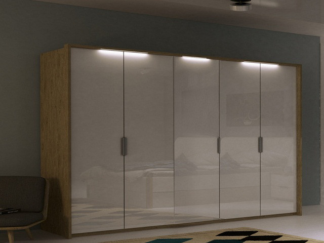 Шафа (шкаф) з ДСП/МДФ в спальню/вітальню/дитячу Флоренція 5Д без дзеркал Миро-Марк
