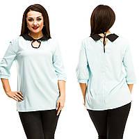 Блузка женская большие размеры (цвета) АНД5043, фото 1
