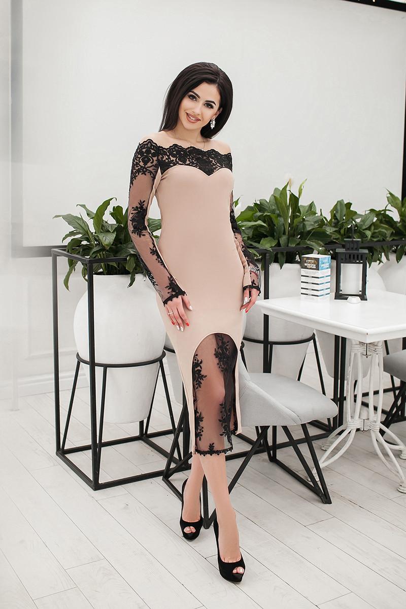 Коктейльное платье 3665