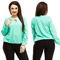 Блузка женская большие размеры (цвета) АНД5042, фото 1