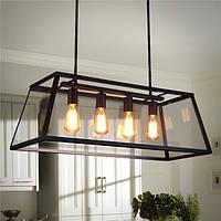4 Head Промышленная люстра LED Потолочный светильник Modern Large Кулон Лампа для кухонной комнаты AC110-220V