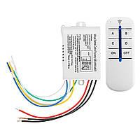 4 Way ON OFF Wireless Дистанционное Управление Переключатель Приемник Передатчик для LED Лампа