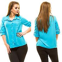 Рубашка женская большие размеры (цвета) АНД197, фото 1