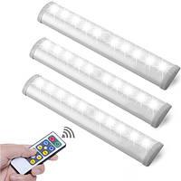Белый/Теплая белизна 10 LED Движение Датчик Свет Батарея Приведено в действие Дистанционное Управление Шкафчик для камней Лампа
