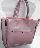 Женская кожаная сумка 8650 т.розовый Кожаные женские сумки купить в Одессе 7 км