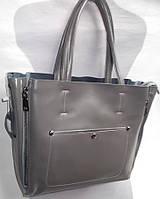Женская кожаная сумка 8650 Серый Кожаные женские сумки купить в Одессе 7 км