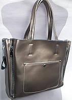 Женская кожаная сумка 8650 Серебряный Кожаные женские сумки купить в Одессе 7 км