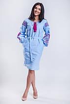 Вышитые платья в украинском стиле Жар Птица розовая, фото 2