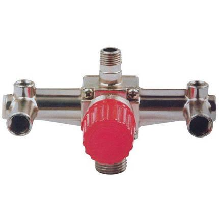 Контрольно-распределительный блок компрессора с регулятором давления [PT-9092] PT-9092 Intertool, фото 2