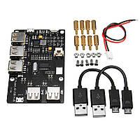 USB2.0ВыходныепортыЭлектронныекомпонентыPi Supply & USB HUB Плата расширения для Raspberry Pi