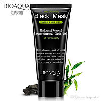 Очищающая маска-плёнка с бамбуковым углём Bioaqua Blackhead Removal Bamboo Charcoal Black Mask