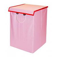 Ящик детский хлопок 30*30*45 с крышкой розовый