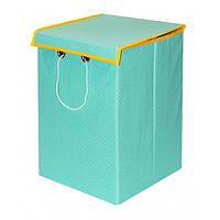 Ящик детский хлопок 30*30*45 с крышкой салатовый