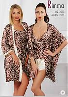 Сорочка, ночная рубашка женская шелковая, халат домашний шелковый, пеньюар, пижама Komilfo Rimma