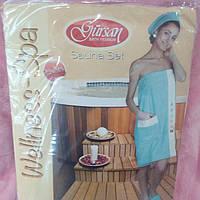 Набор полотенец для суны  Турция  цвет  в ассортименте банный набор полотенец 3 предмета