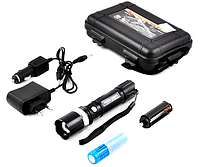 Аккумуляторный фонарик Bailong T8626 в кейсе