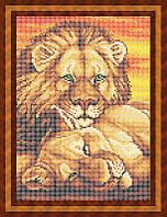 Схема для полной вышивки бисером - Пара львов, Арт. ЖБп4-16