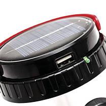 Фонарь аккумуляторный 1LED 1W + 21 SMD солнечная панель, кабель для зарядки телефона LB-0111 Intertool, фото 2