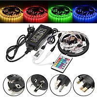 5M 60W SMD5050 Не водонепроницаемый RGB LED Strip Light+WiFi-контроллер+Дистанционное Управление+адаптер DC12V