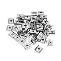 Machifit 50pcs M5 T Раздвижная гайка Углеродистая сталь Zin Plated T Раздвижная гайка для профиля 3030 Aluminum - 1TopShop