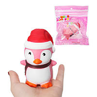 Squishy Penguin Slow Rising Soft Toy Christmas Шапка Cute Kawaii Squeeze Gift