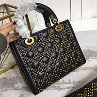 Сумка-коробка из натуральной кожи с украшениями из металла Dior
