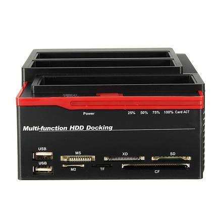 EU 2.5 3.5 ВСЕ В One USB 3.0 К SATA IDE HDD SSD Корпус жесткого диска Клоновый считыватель карт-1TopShop, фото 2