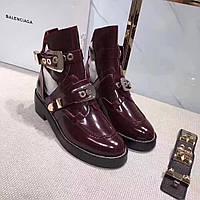 Демисезонные ботинки из кожи Balenciaga