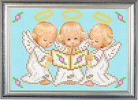 Набор для частичной вышивки бисером - Ангелочки и книга, Арт. ДБч5-5