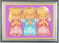 Набор для частичной вышивки бисером - Ангелочки - Почти идеальный, Арт. ДБч5-25