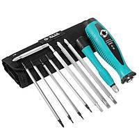 10 in 1 Multi-Bit Long Двусторонние вставки Магнитные Отвертка Наборы для ремонта Многофункциональная ручка Инструмент