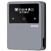 ONN X1 Bluetooth Спортивный металлический OLED-сенсорный экран 8GB FM-шагомер APE Flac Lossless MP3-плеер с задним зажимом