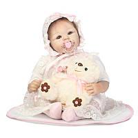 NPK 50CM Collective Reborn Baby Кукла Игрушки Full Силиконовый Виниловые детские игрушки для девочек
