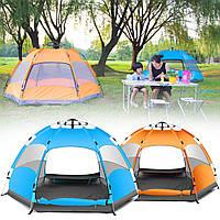 Наоткрытомвоздухе3-4чел.Автоматический Кемпинг Палатка Водонепроницаемы Двойной слой UV Пляжный Навес для теней
