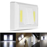 Батарея Управляемый беспроводной COB LED Ночной свет Супер яркий переключатель Лампа для шкафа Шкаф Гараж