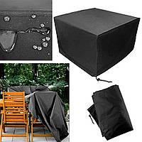 Патио Защитная мебельная обивка Черный прямоугольный сверхбольшой Водонепроницаемы Пылезащитный складной столик и стул