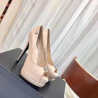 Туфли кожаные на высоком каблуке Philipp Plein