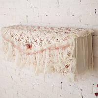 Пасторальный цветок ткани кружева Крюк Обложка Хлопок Крышка для кондиционирования воздуха Пылезащитная крышка