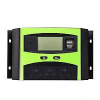 30A 12V/24V LCD Дисплей PWM USB Солнечная Регулятор заряда аккумулятора панели