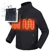На открытом воздухе Мужчины с подогревом Батарея Куртка Аккумуляторное тепловое покрытие мотоцикл Зимняя одежда