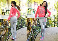 """Женский стильный спортивный костюм с лосинами-юбкой """"NORWEGLAN"""" в расцветках, фото 1"""