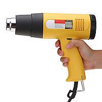 2000W AC 220V LCD Цифровой горячий воздух Терморегулятор Температура Регулируемое сопло Желтый