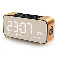 Bakeey™2500mAhDualAlarmЧасы Bluetooth Динамик с микрофоном LEC-экраном FM Радио AUX Bass Stereo