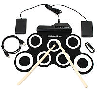 Цифровые портативные рулонные электронные комплекты ударных инструментов с педальными барабанными палочками