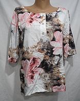 Блуза женская ( коттон; р-ры L - 4XL ), фото 1