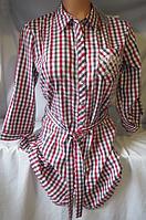 Рубашка-туника женская ( коттон; р-ры S - XXL )