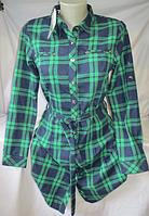 Рубашка-туника женская ( коттон байка; р-ры S - XXL )