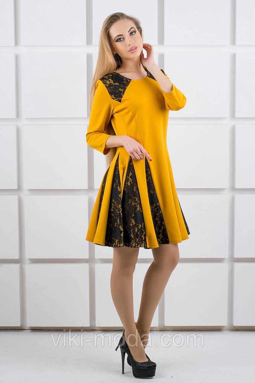 Платье женское Хэлли (горчичный)
